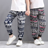 Toddler and Kids Unisex Bohemian Style Relaxed Fit Joggers