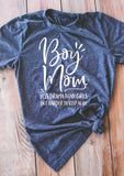 Junior's Boy Mom T-Shirt