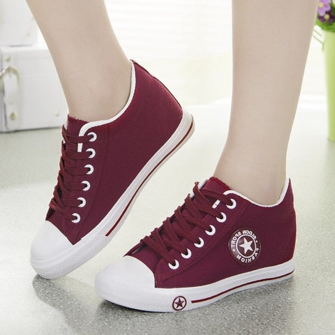 Ladies Sport Star Fashion Canvas Sneakers