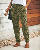 Ladies Loose Camouflage Print Leisure/Workout Pants