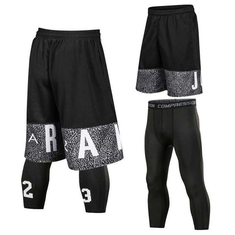 Young Men's Jordan Quick-Dry Basketball Shorts and Compression Pants