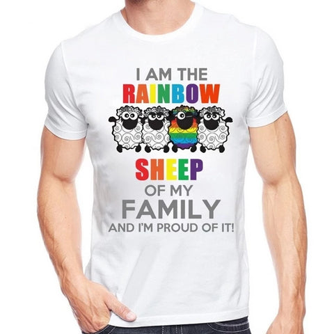 Unisex Proud Rainbow Sheep Design T-Shirt