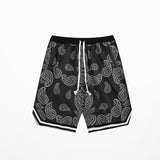 Young Men's Kayne West Sunday Service Paisley Print Shorts