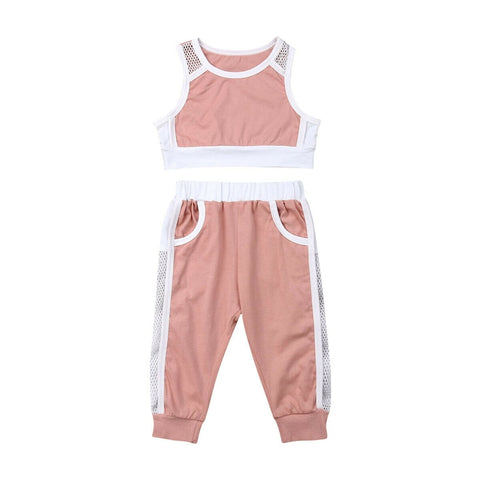 Girls Toddler and Kids 2-Piece Tracksuit