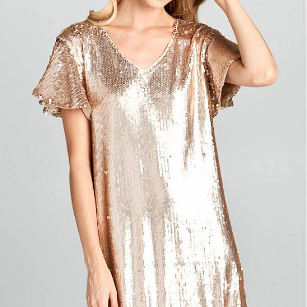 Dancing Queen Sequin Shift Dress