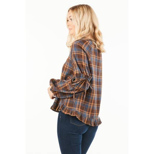 Loveriche Plaid Blouse