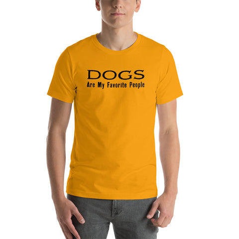 Dogs Are My Favorite People Short-Sleeve T-Shirt