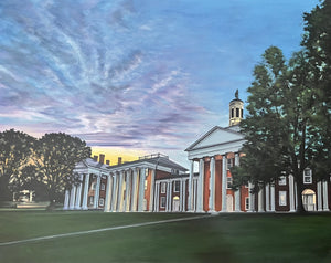 Sunset on the Colonnade, print