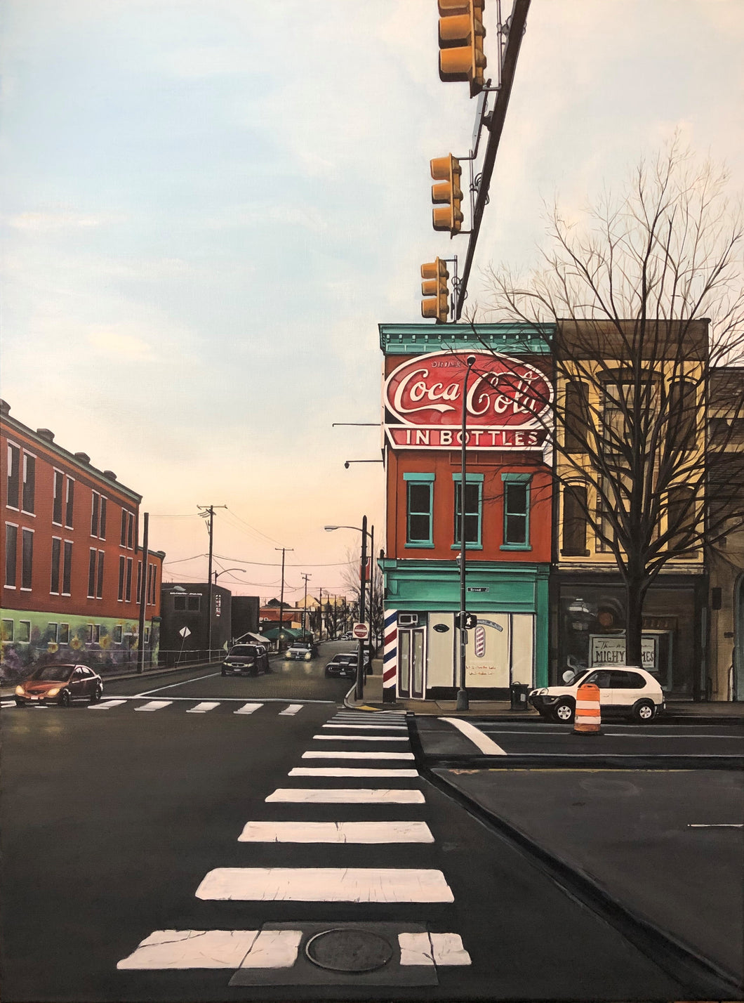 "1st and Broad, 40""x30"""