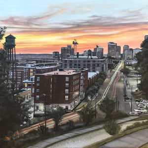 Sunset over Tobacco Row, print