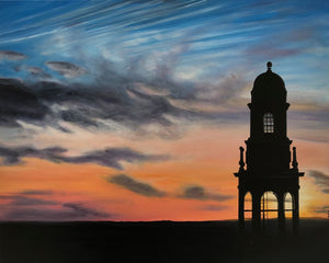 "Carillon Tower at Sunset, 24""x30"""
