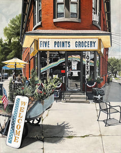 "Five Points Grocery, 20""x16"""