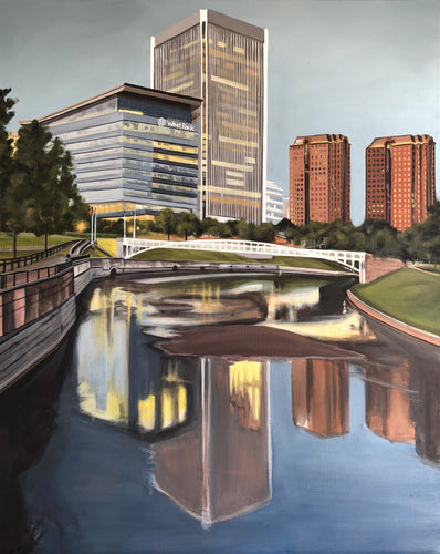 "Reflections of the City, 30""x24"""