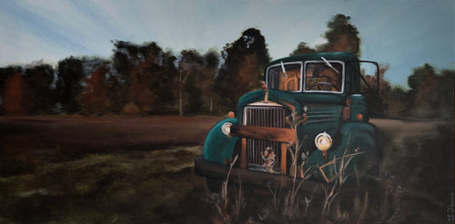 "Off the Main Road, 12""x24"""