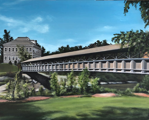"The Footbridge, 24""x30"""