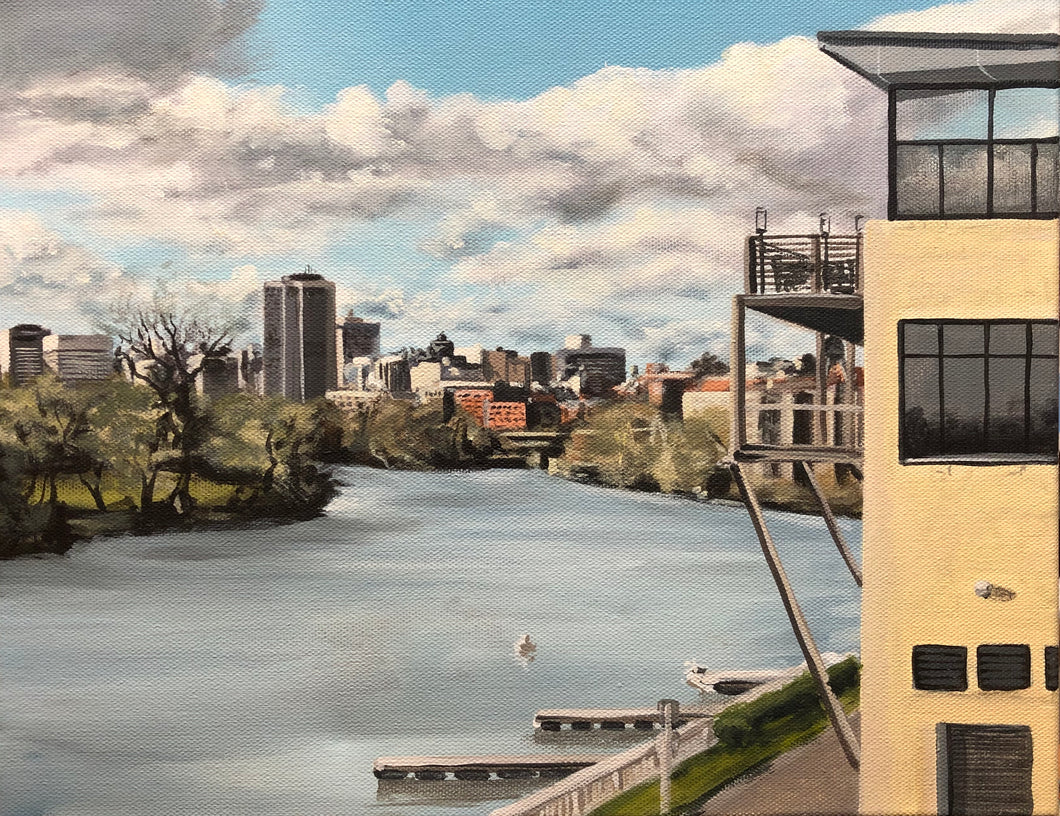 "River City Siesta, 11""x14"""