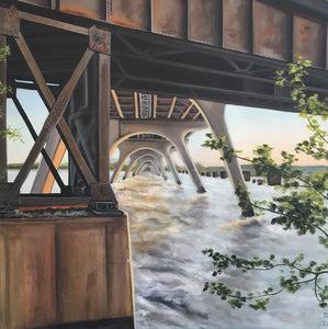 "Rust on the James, 20""x20"""