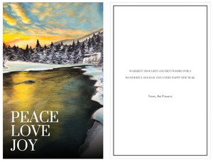 "~Peace, Love, Joy~ cards featuring ""Winters Luster"""