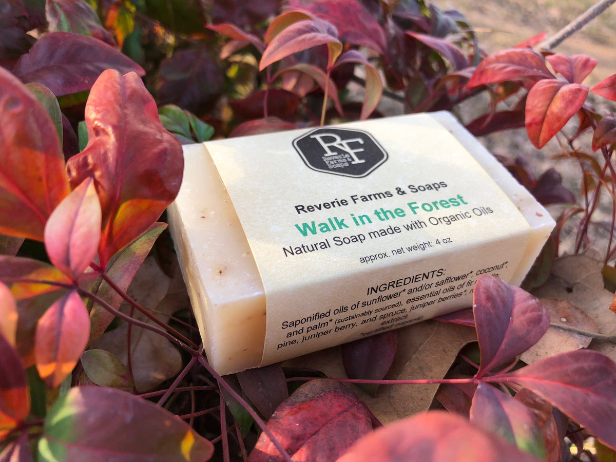 walk in the forest vegan cruelty free bar soap