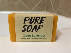Citrus Lavender Organic Bar Soap