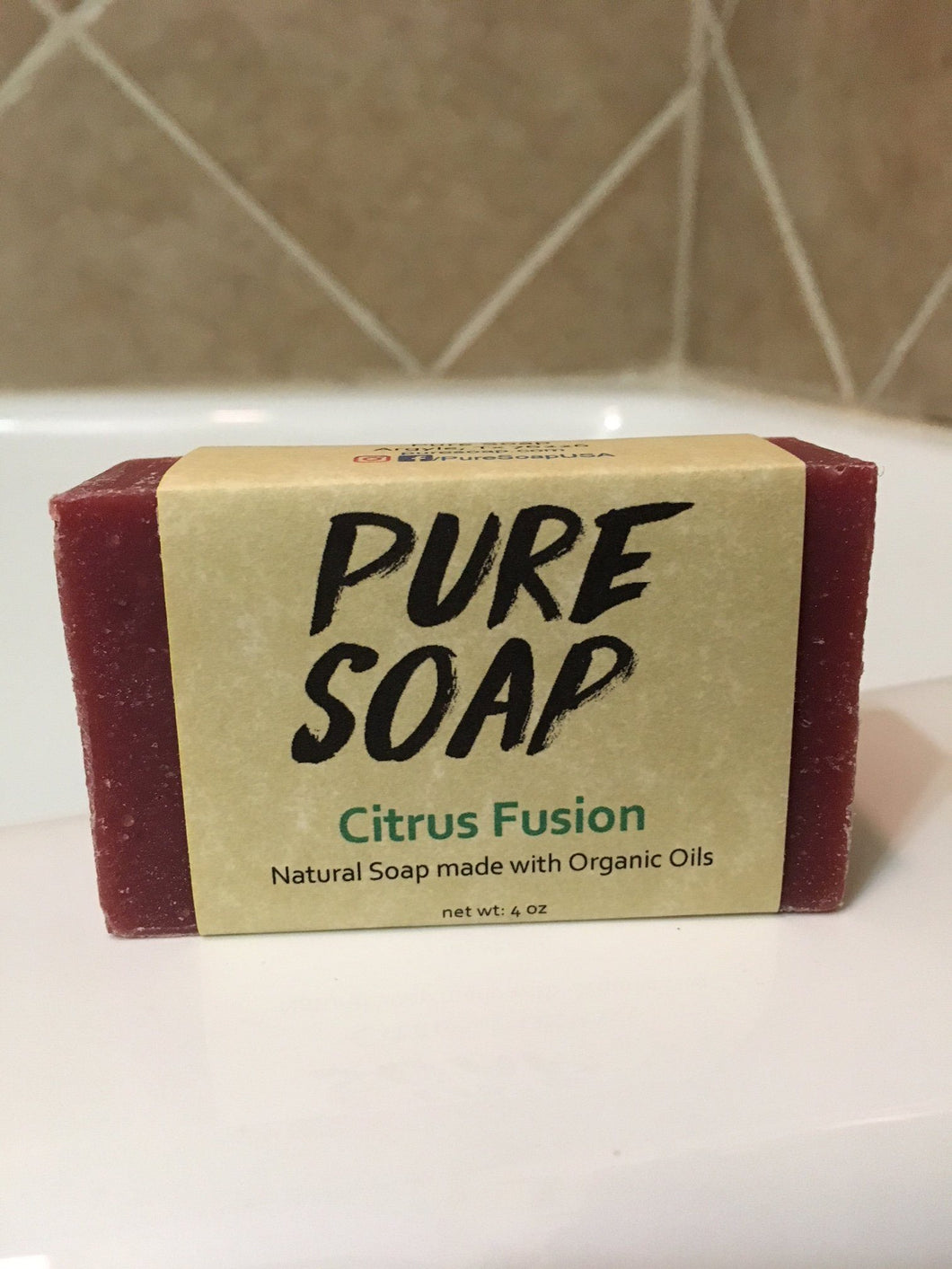 citrus fusion organic natural bar soap