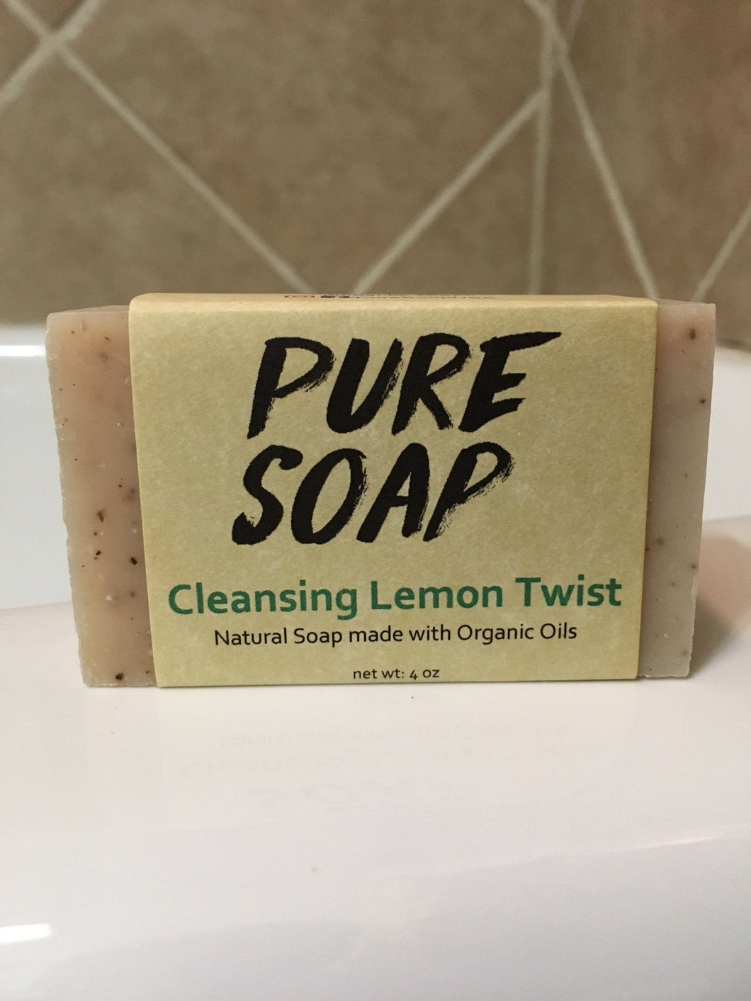 cleansing lemon twist organic handmade lemon soap bar