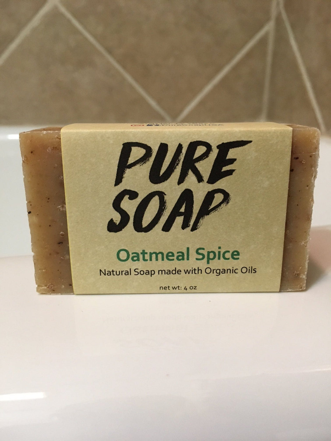 oatmeal spice organic bar soap