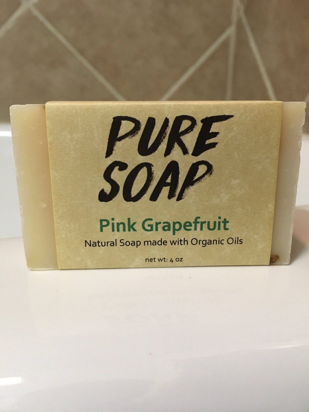 pink grapefruit handmade organic bar soap