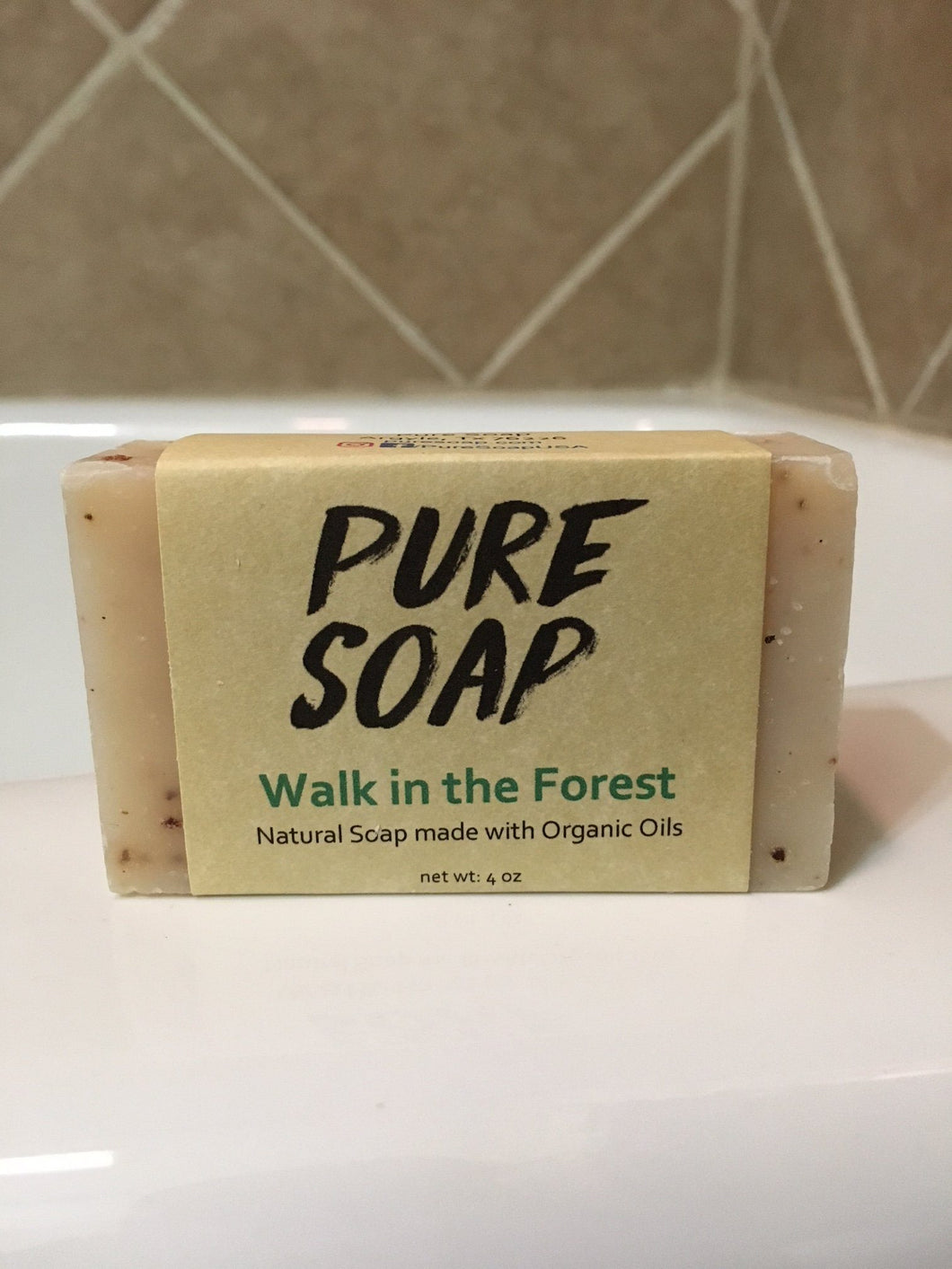 walk in the forest outdoors scented organic bar soap