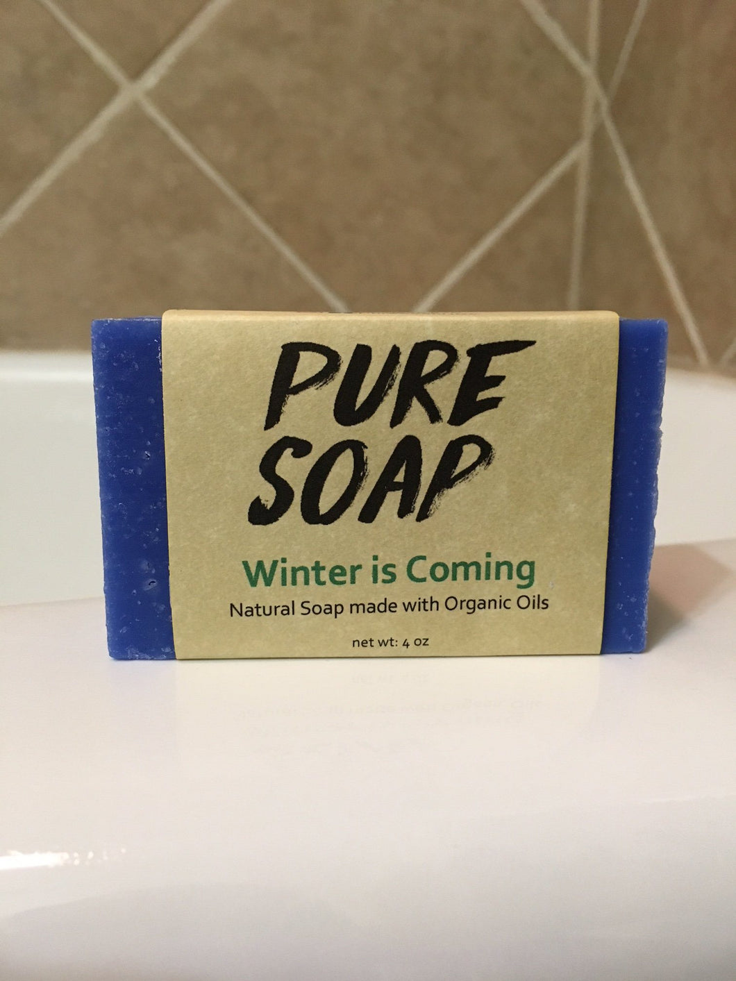 tea tree peppermint natural organic winter is coming bar soap