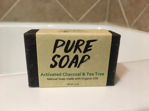 Activated Charcoal and Tea Tree Organic Bar Soap