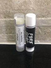 all natural peppermint and unscented lip balm
