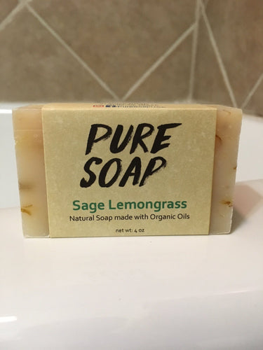 lemon and sage organic lemongrass soap