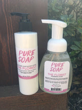 natural organic lotion and foaming soap combo pack