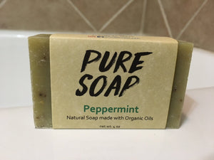 Peppermint Organic Bar Soap