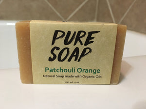 Patchouli Orange Organic Bar Soap