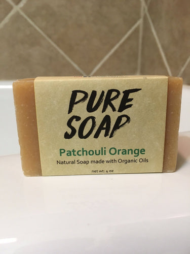patchouli and orange organic handmade soap