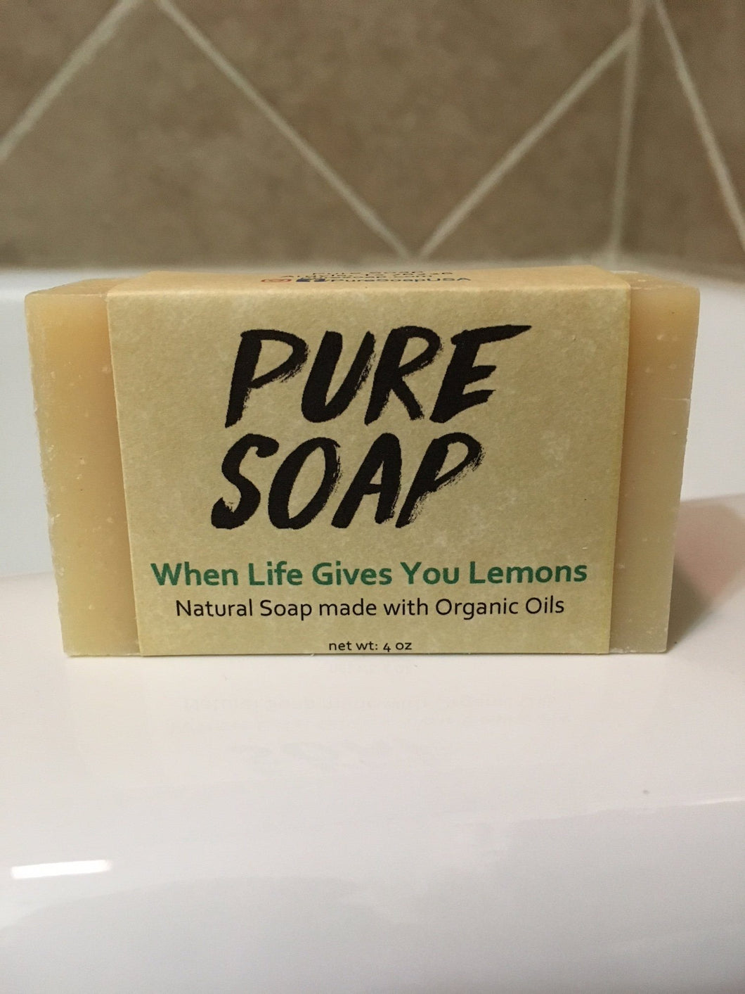 when life gives you lemons natural organic bar soap