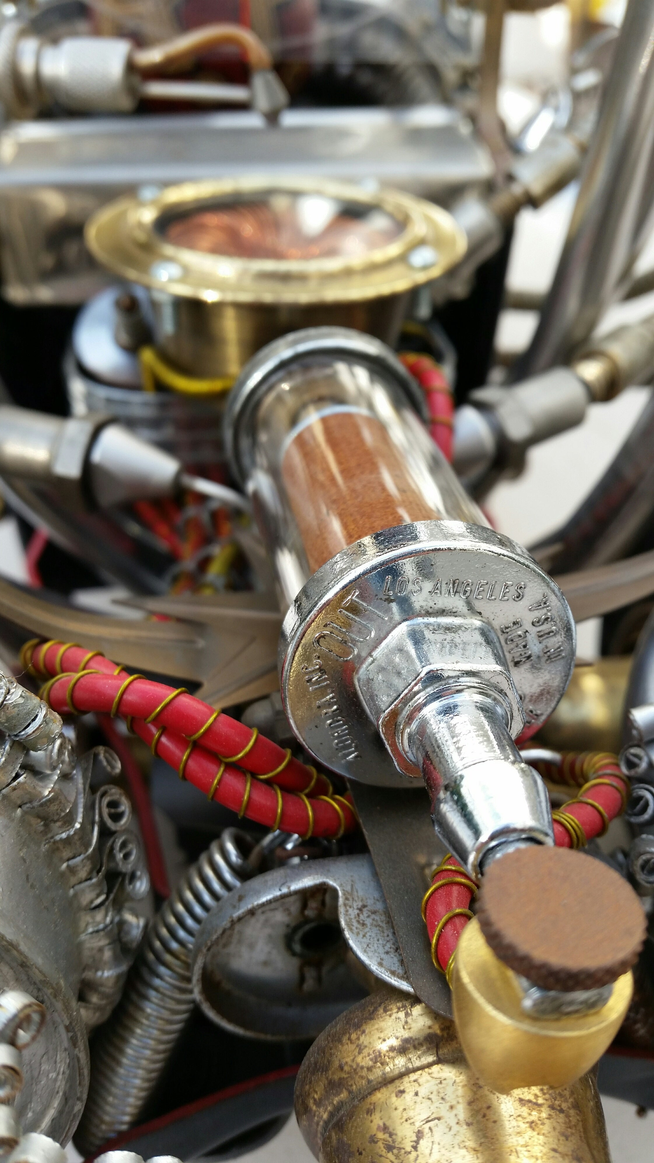 artist rick frausto's multimedia sculpture the hot rod engine detail 2