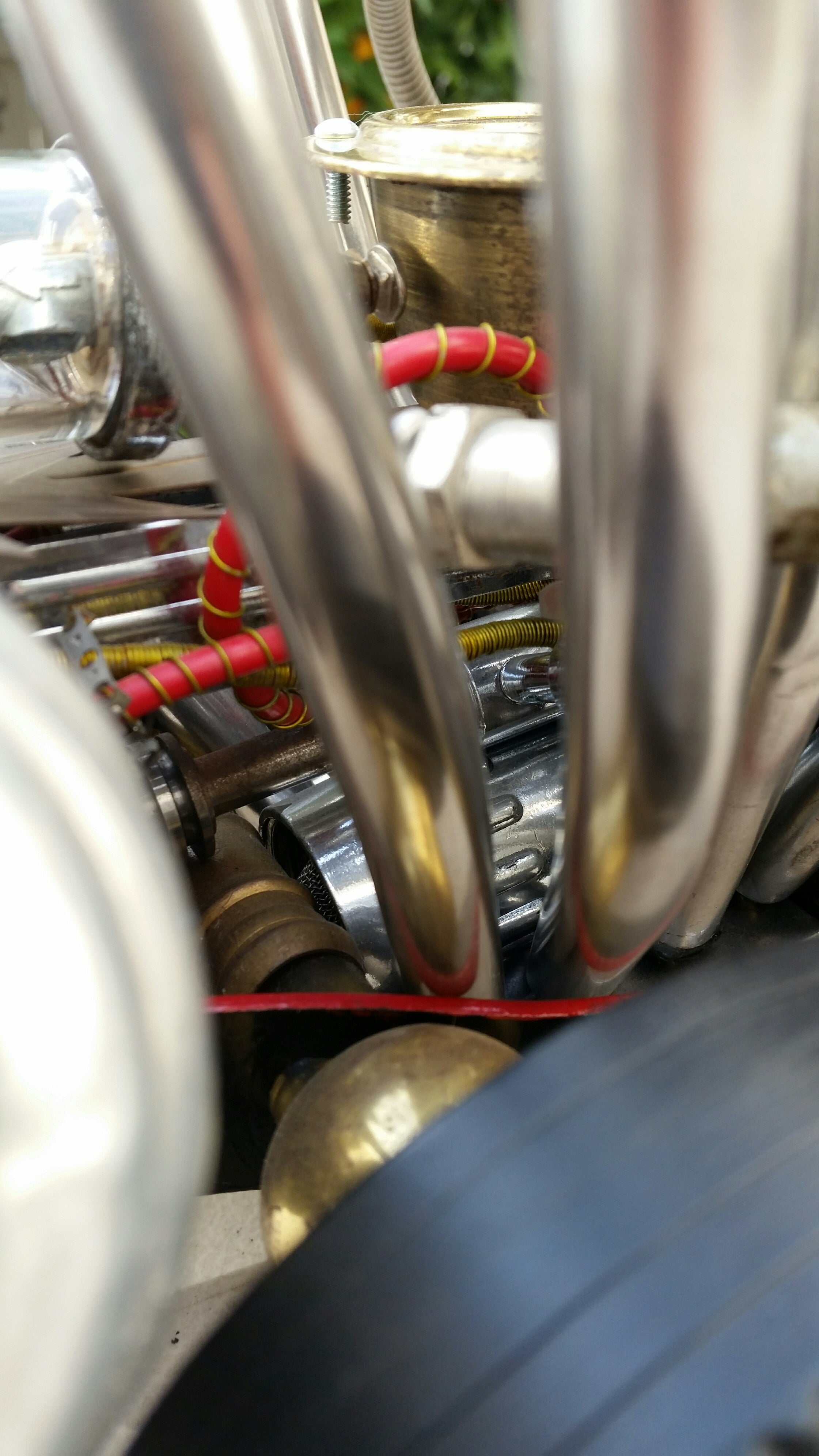 artist rick frausto's multimedia sculpture the hot rod engine detail 3