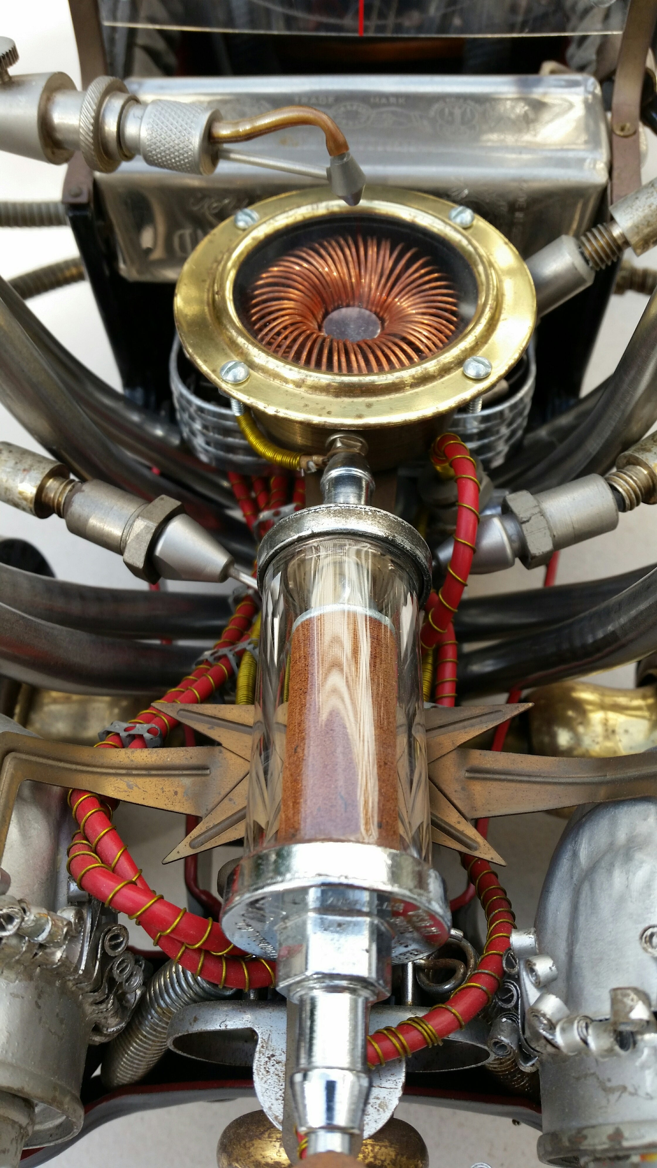 artist rick frausto's multimedia sculpture the hot rod engine detail 1