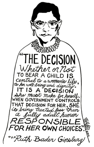 Ruth Bader Ginsburg Protest Art Original Drawing By Rick Frausto