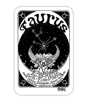 Taurus Zodiac Art Eco Friendly Sticker By Rick Frausto Fine Art
