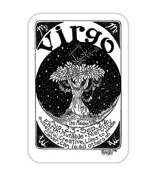 Virgo Zodiac Art Eco Friendly Sticker By Rick Frausto Fine Art