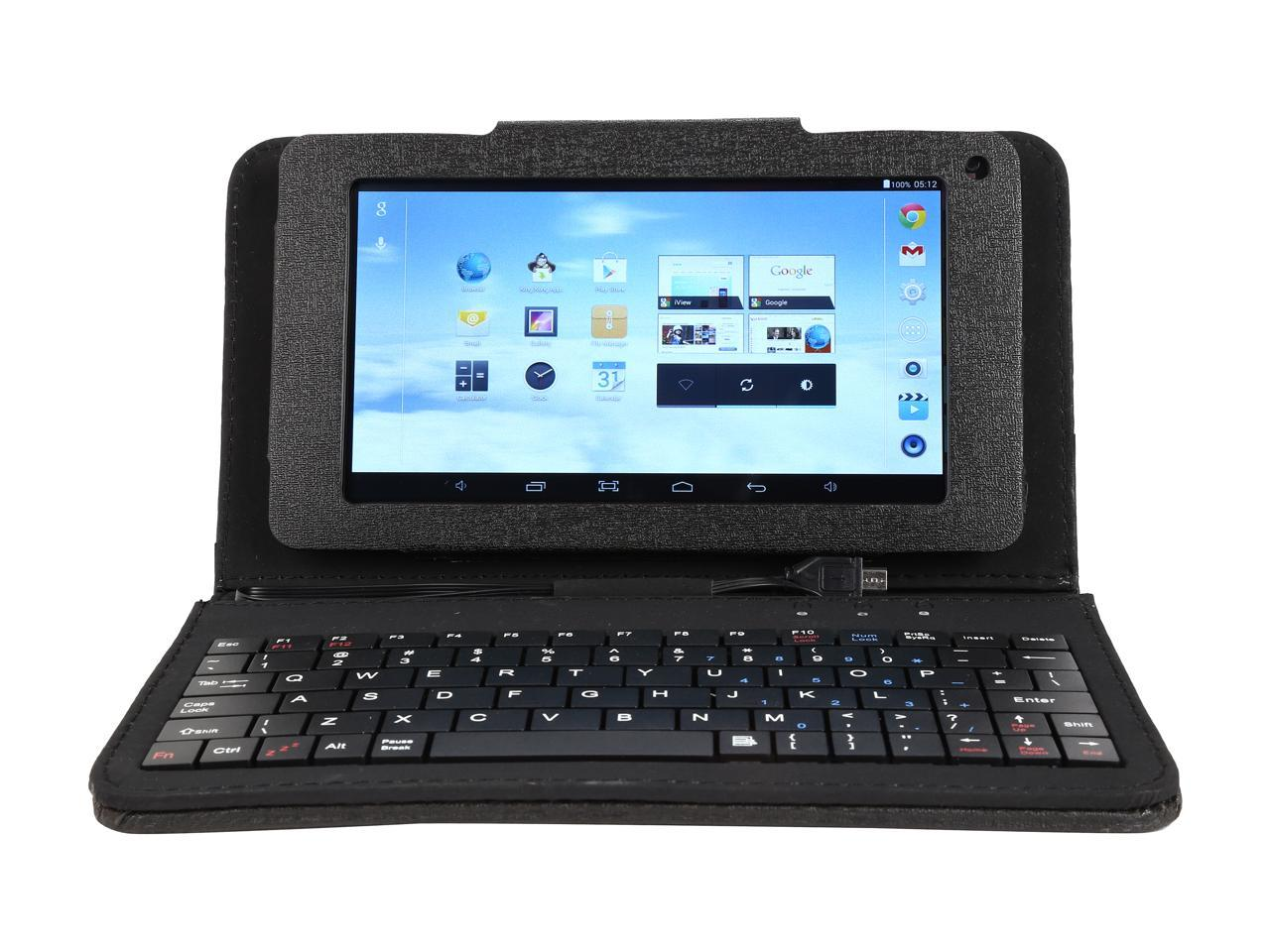 "733TPC-K 7"" 1024 × 600 Cortex A7 Quad Core 1.3GHz 512MB/8GB Android Tablet with Keyboard Case"