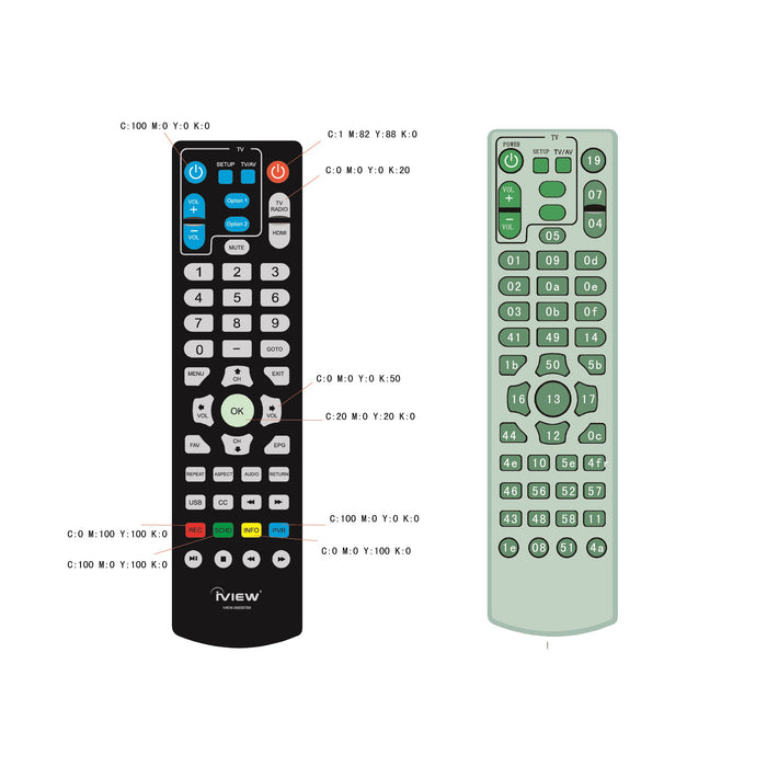Iview 3500STBII-A Learning Remote with copying remote function
