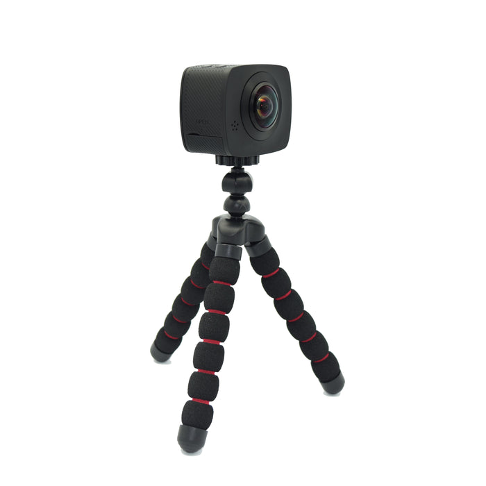 360 Pro SONY CMOS 8MP, Dual Lens, VR Panoramic 360° Camera with Tripod, Water-Proof Case, Helmet Mount and 8GB Micro SD Card