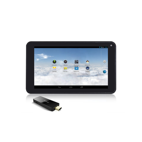 Iview 733TPC black Android tablet and MiraDongle black Android dongle