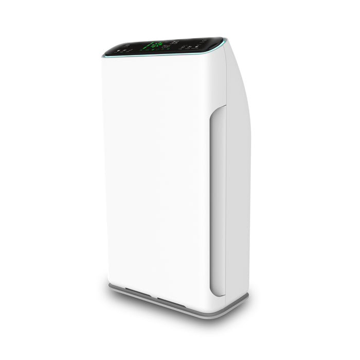 2-in-1 white Air Purifier side view