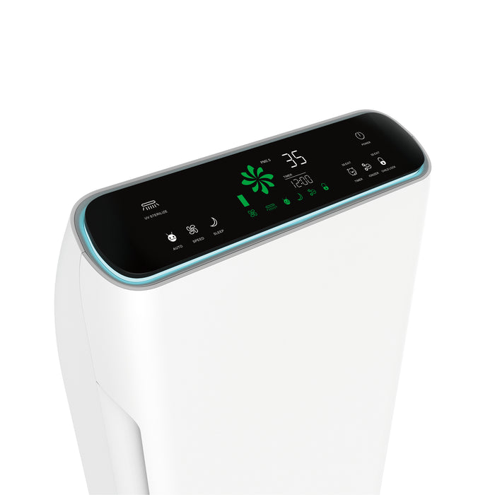 2-in-1 Air Purifier with LED air quality sensor display